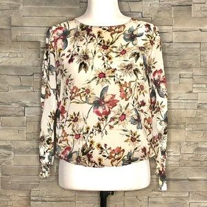 Reserved cream floral blouse